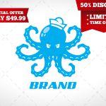 Octopus Logo | Modern Octopus Logo For Sale