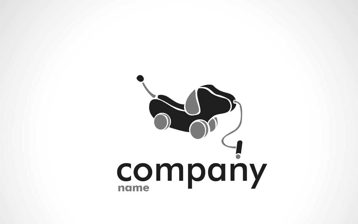 cute dog logo