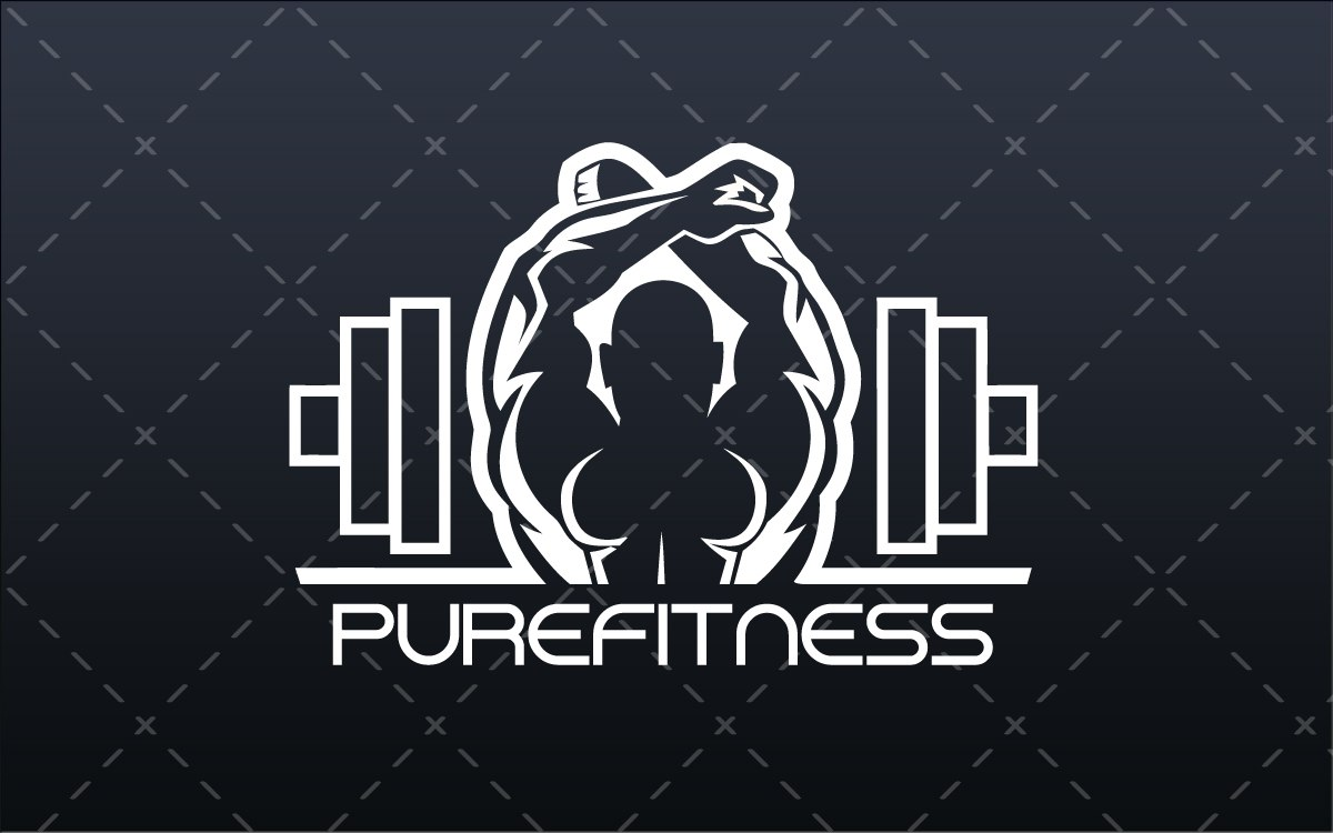 Fitness Gym Logo For Sale - Lobotz