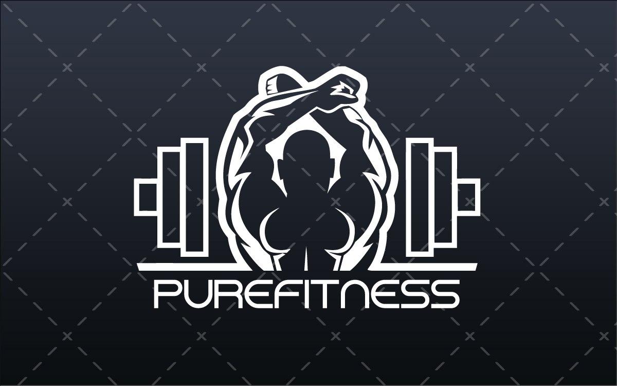 Fitness Gym Logo For Sale - Lobotz