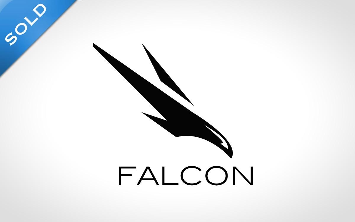 falcon logo clip art black and white