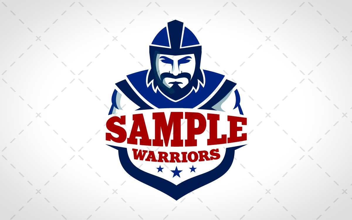 warrior mascot logo for sale