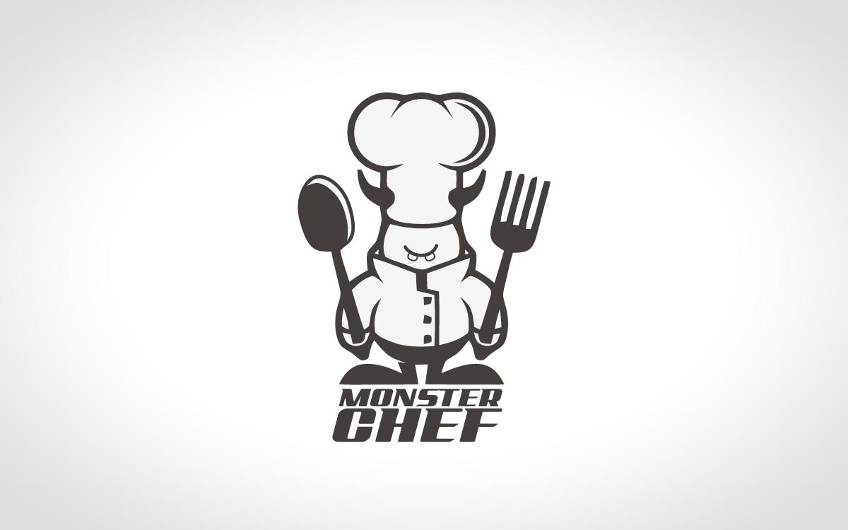 Monster Chef Logo For Sale - Lobotz