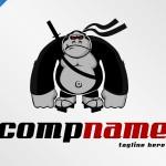 Samurai Gorilla Logo For Sale