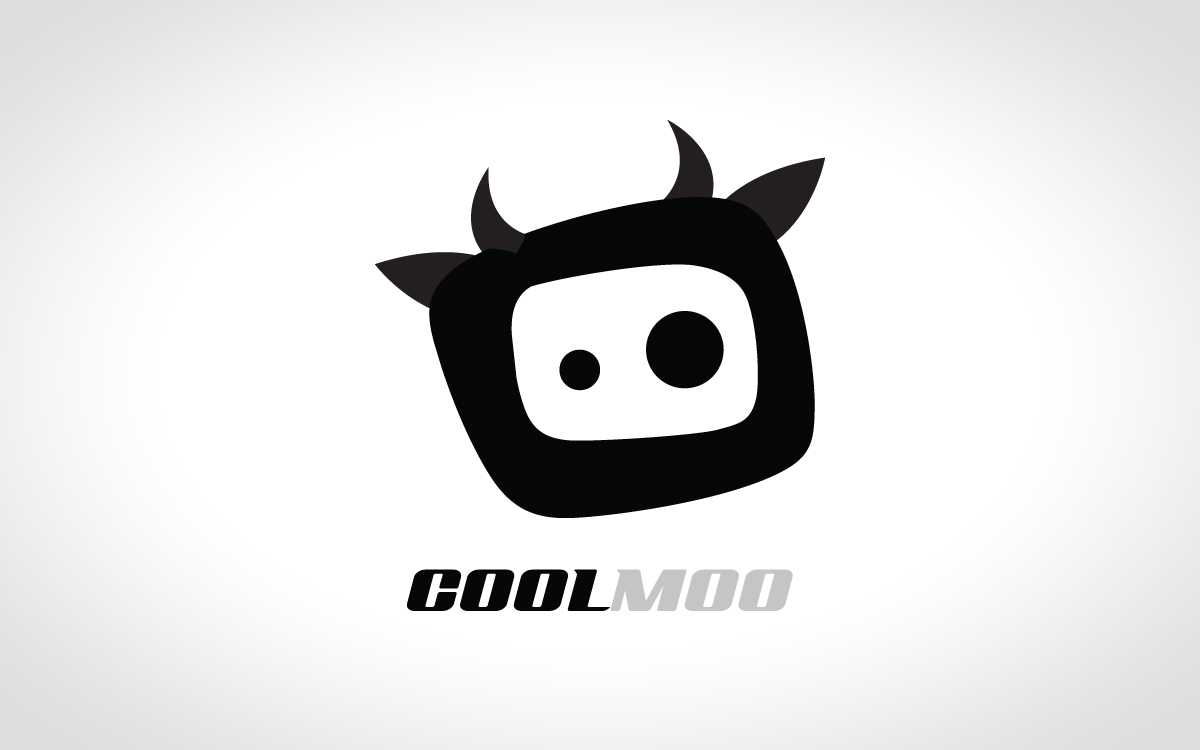 fun cow logo for sale