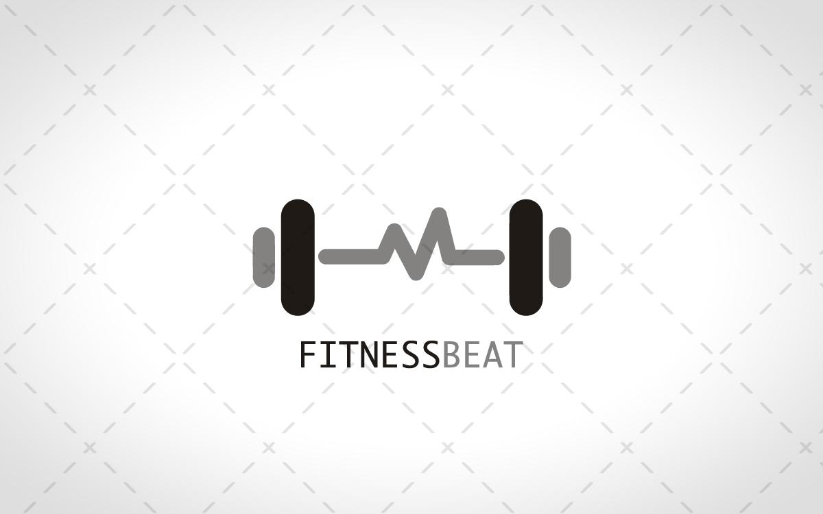 Modern Fitness Logo For Sale - Lobotz