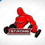 Strong BodyBuilding Logo For Sale