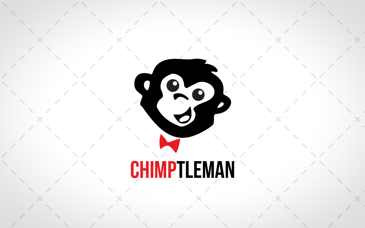 smart monkey head logo for sale