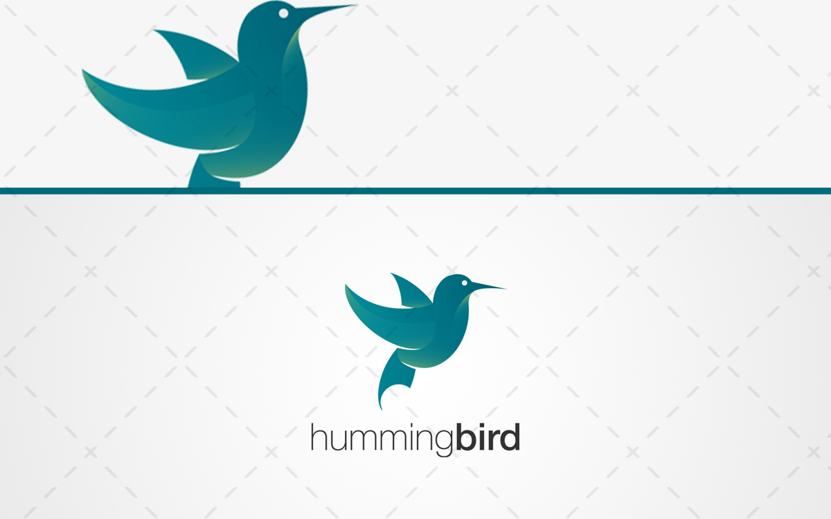 humming bird logo for sale