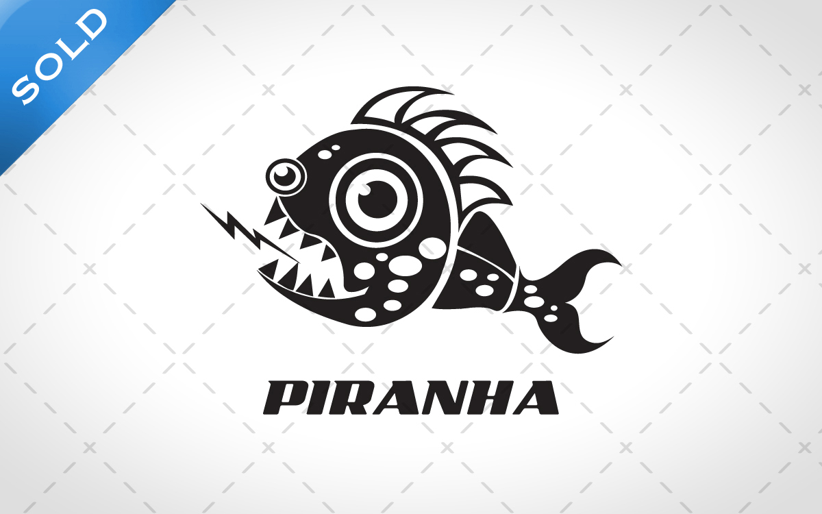 piranha logo for sale