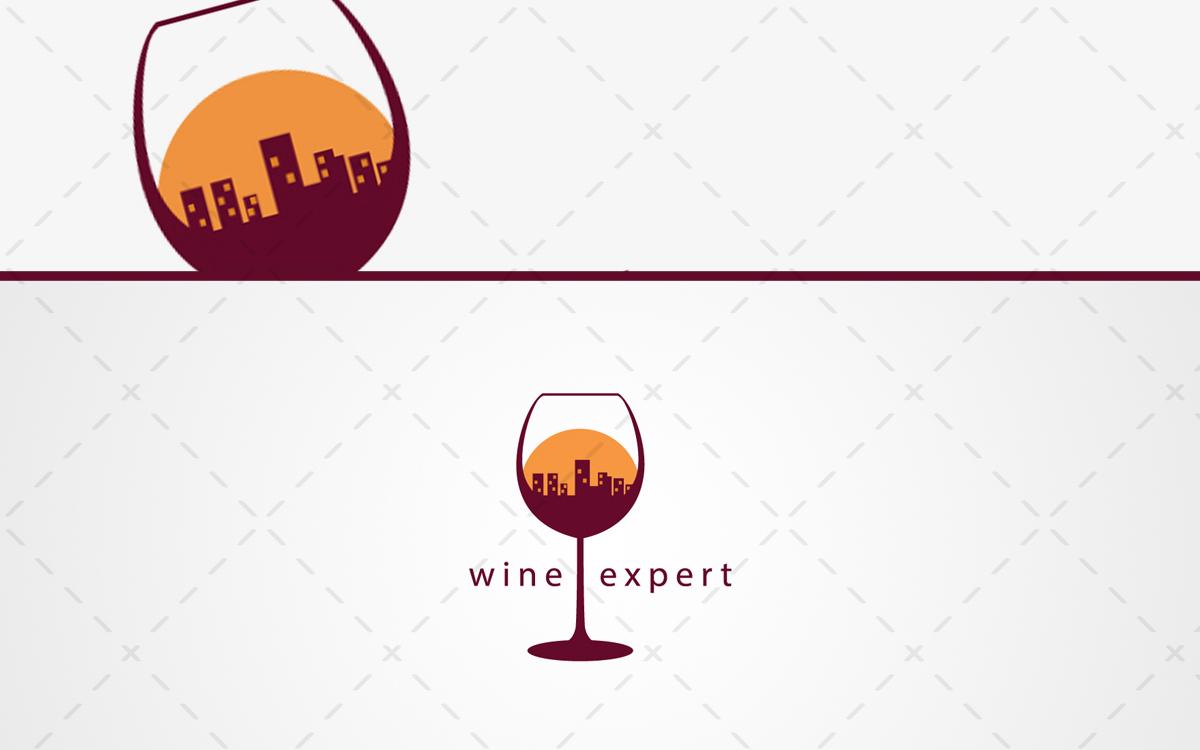 wine glass logo for sale