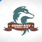Stylish Wolf Logo For Sale