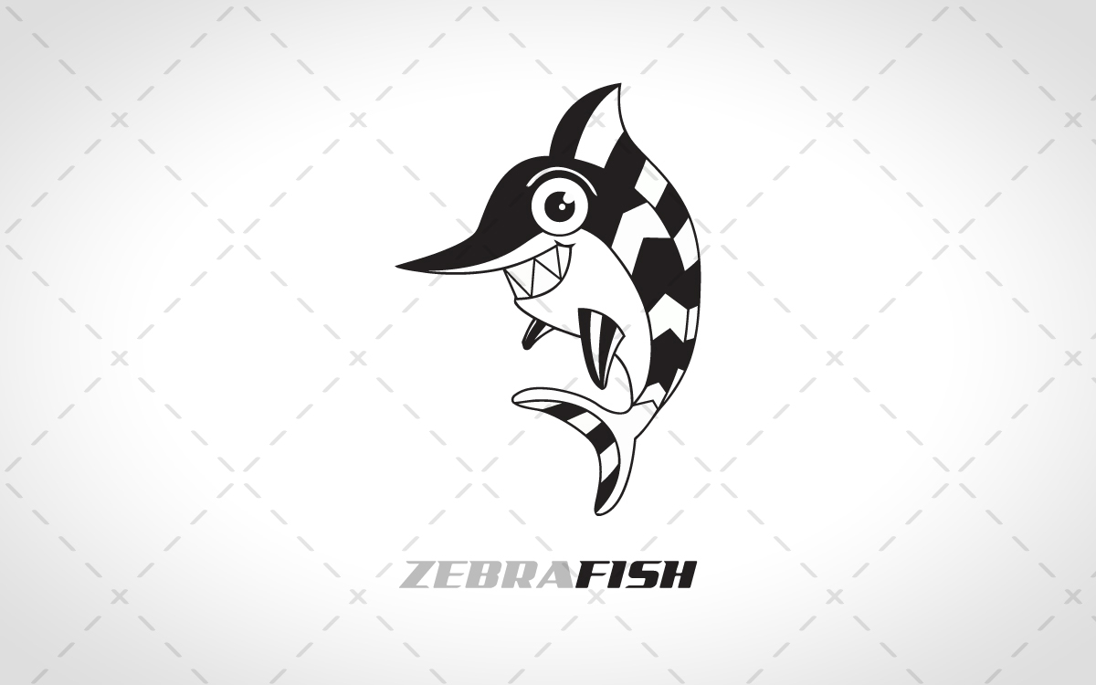 zebra fish logo for sale
