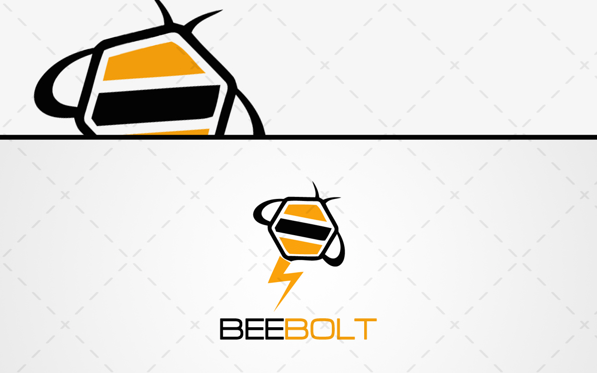 bolt bee logo for sale