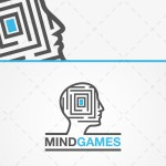 Mind Games Head Maze Logo For Sale