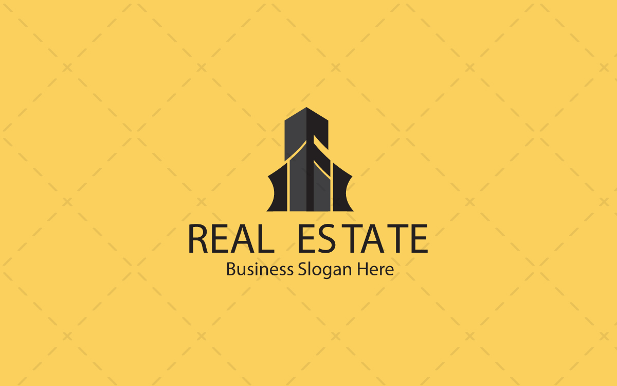 Modern real estate logo for sale lobotz for Contemporary real estate for sale
