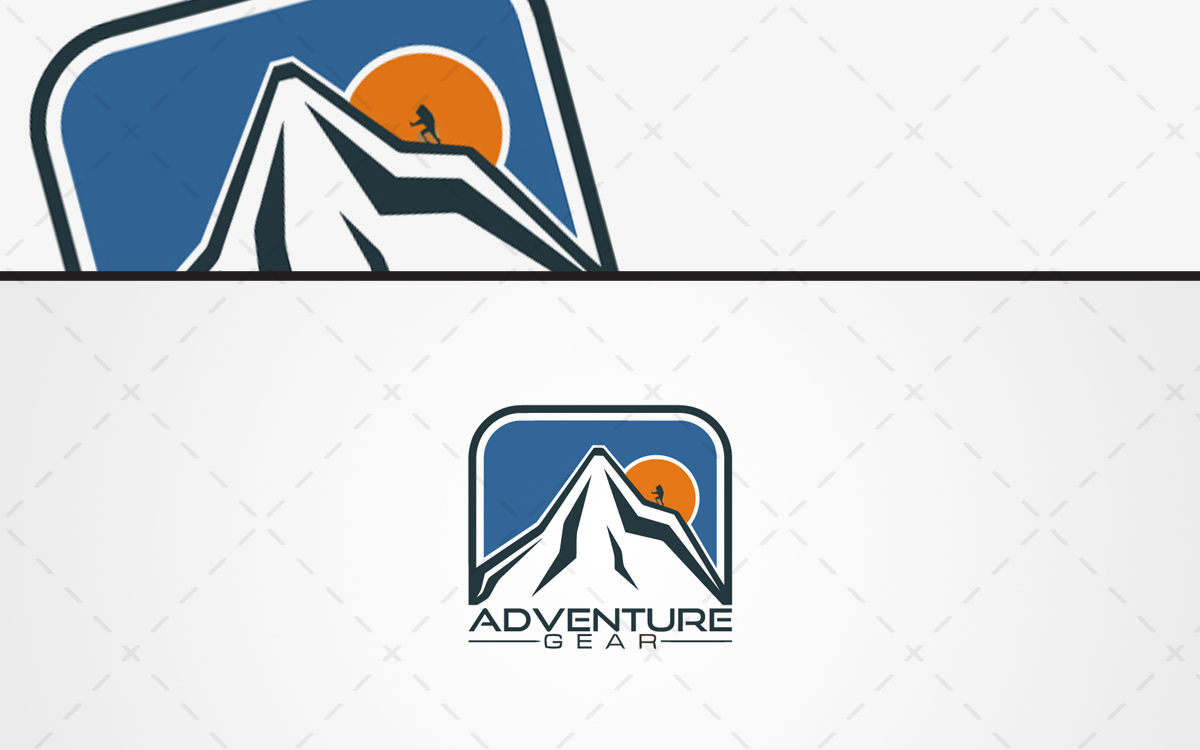 mountain Adventure Logo For Sale
