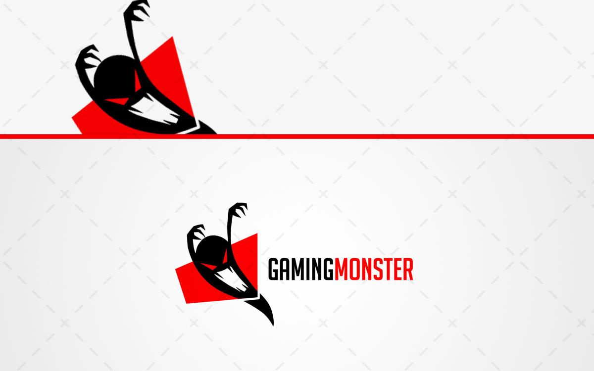 spooky cool gaming monster logo for sale lobotz