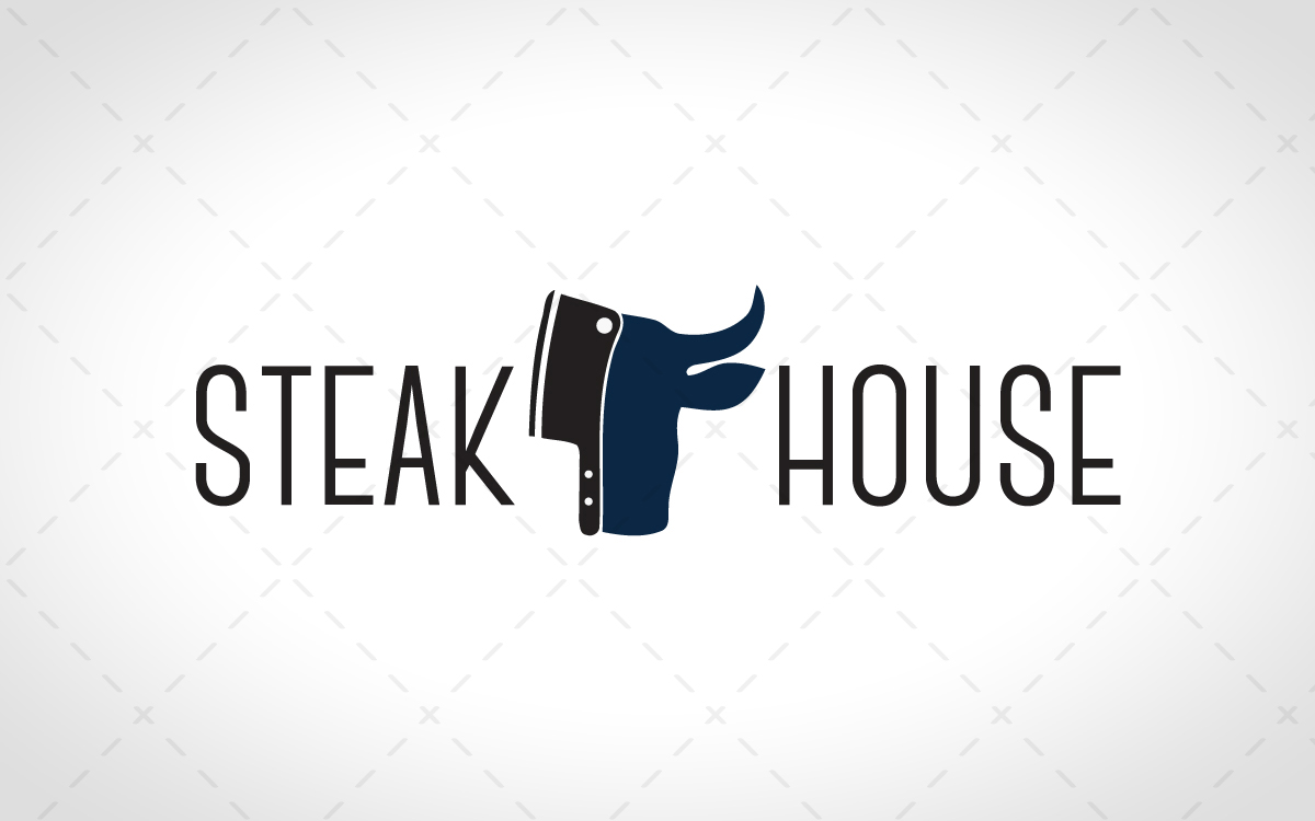 Modern steak restaurant logo for sale lobotz readymade logos for sale premade logos for sale buycottarizona Image collections