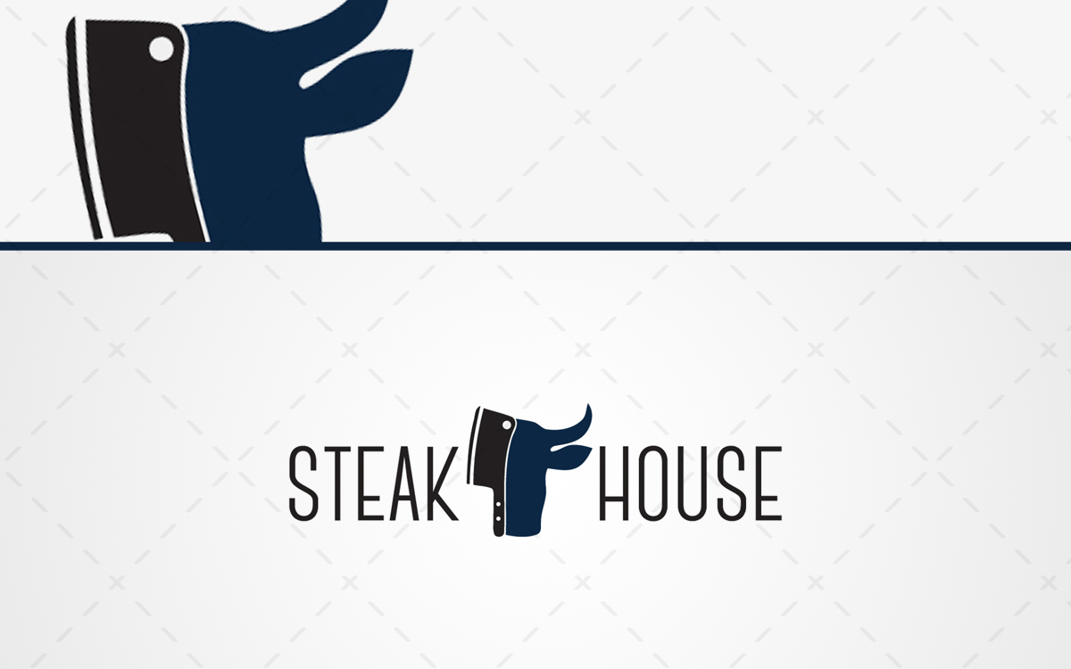 Steak Restaurant Logo For Sale