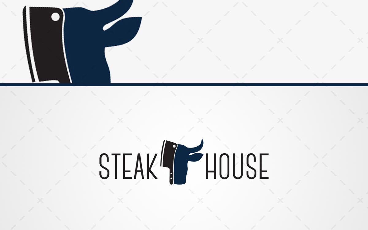 Steak Restaurant Logo For Sale