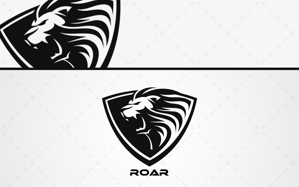 roaring lion head logo for sale lobotz