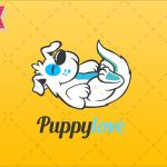 free cute dog logo to download