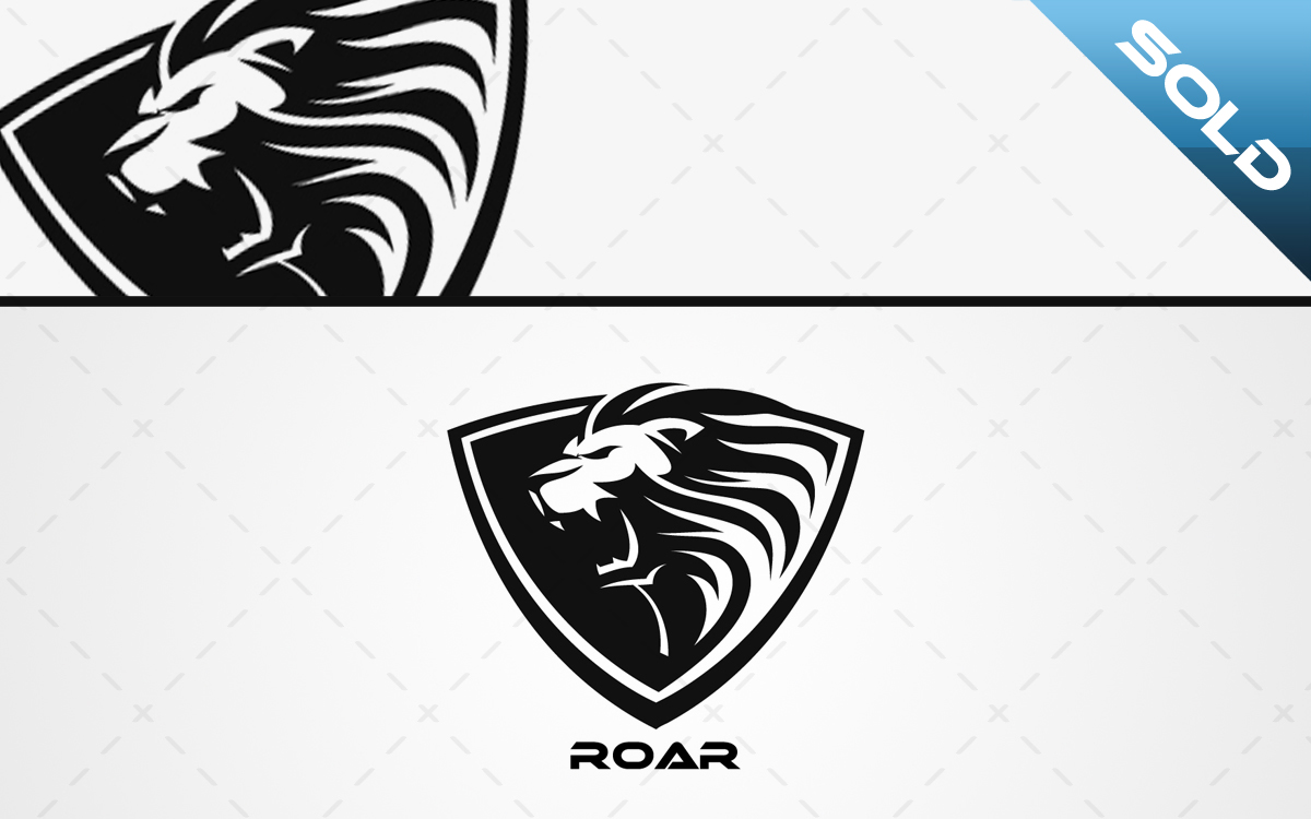 Roaring Lion Head Logo For Sale