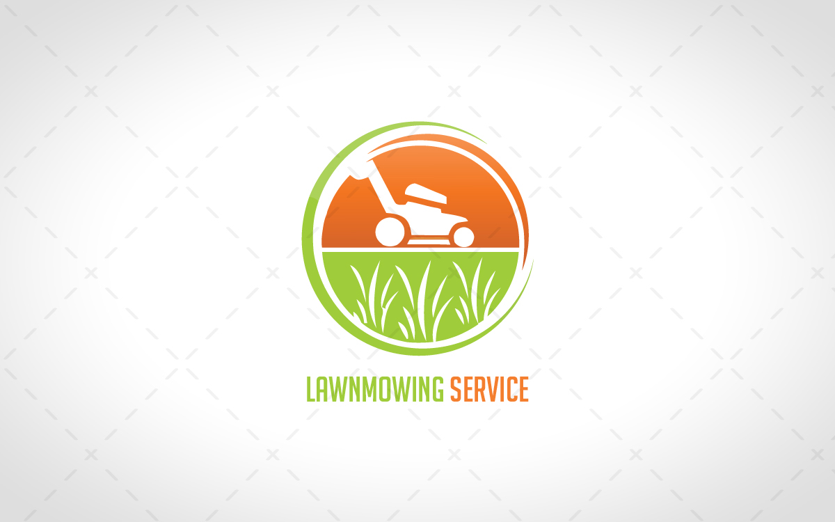 Modern Lawn Mowing Gardener Logo For Sale Lobotz