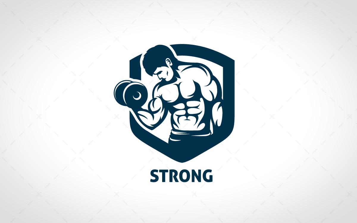 Strong BodyBuilding Logo For Sale - Lobotz
