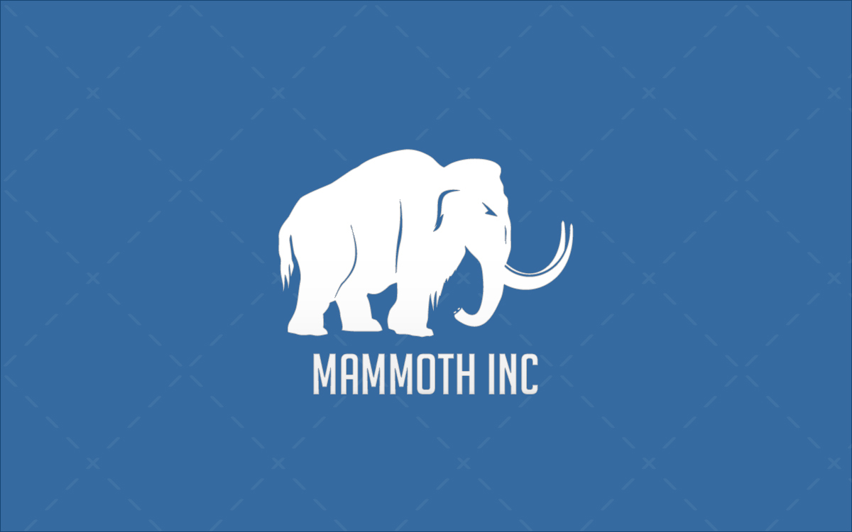 modern one off mammoth logo for sale