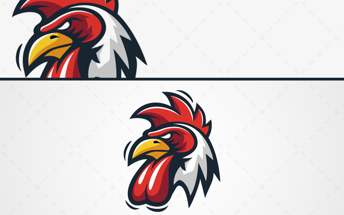 Magestic Rooster Logo Rooster Mascot Logo For Sale