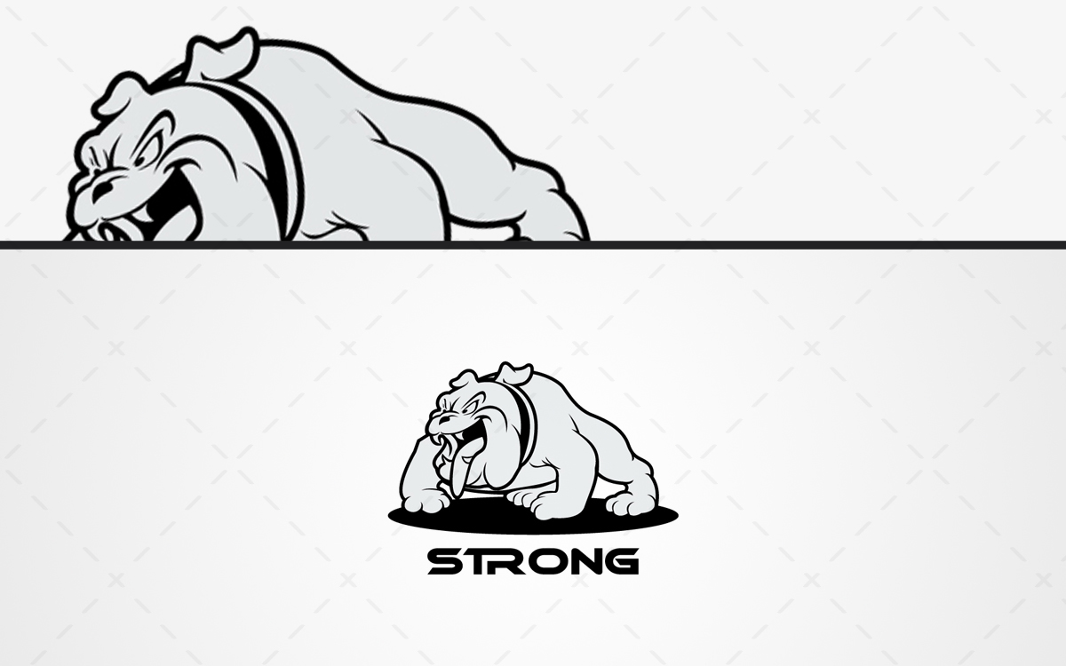 bull dog logo for sale