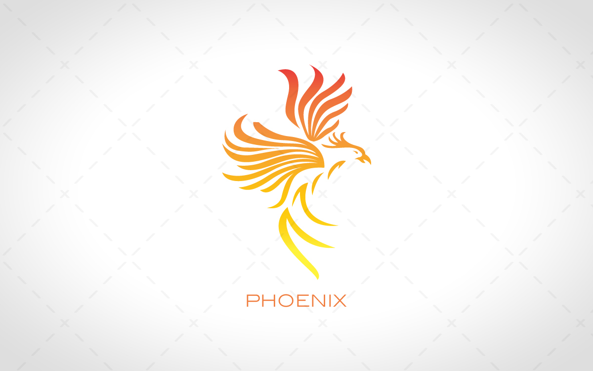Fiery Modern Phoenix Logo For Sale - Lobotz