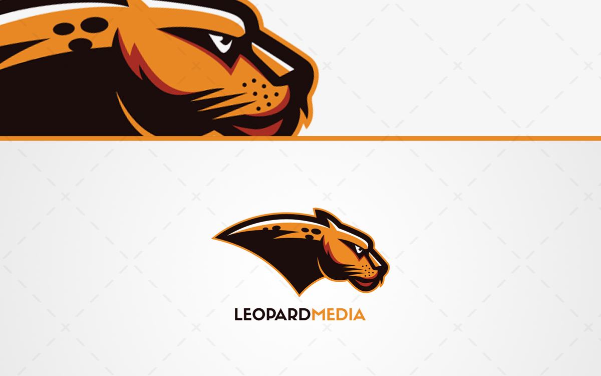 Leopard Mascot Logo For Sale