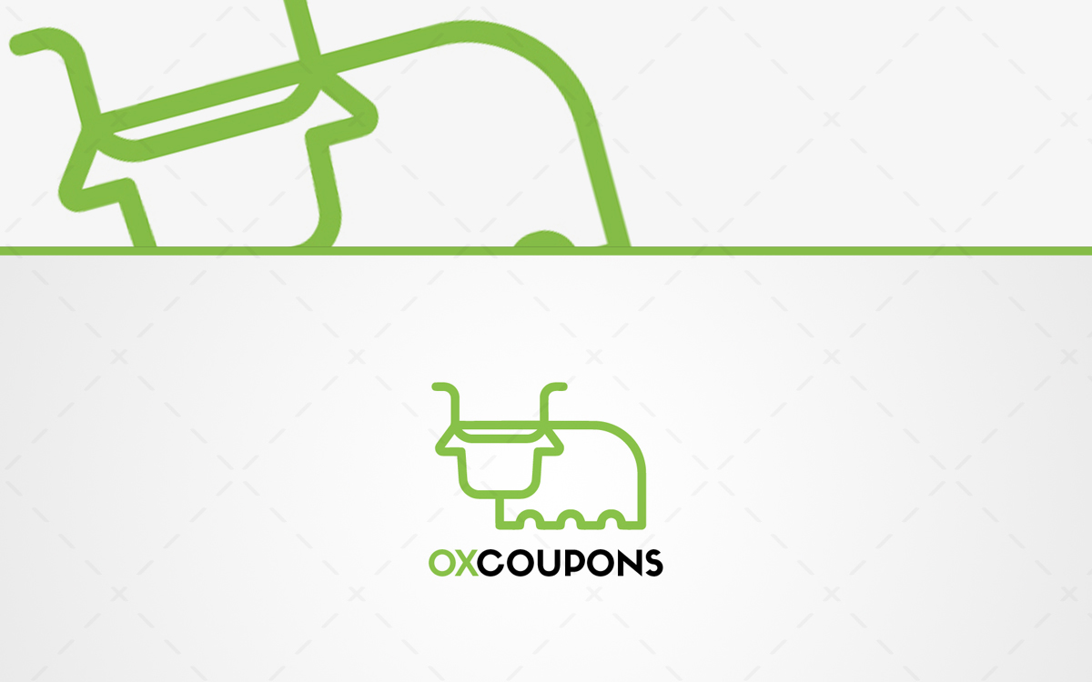 minimalist ox logo for sale