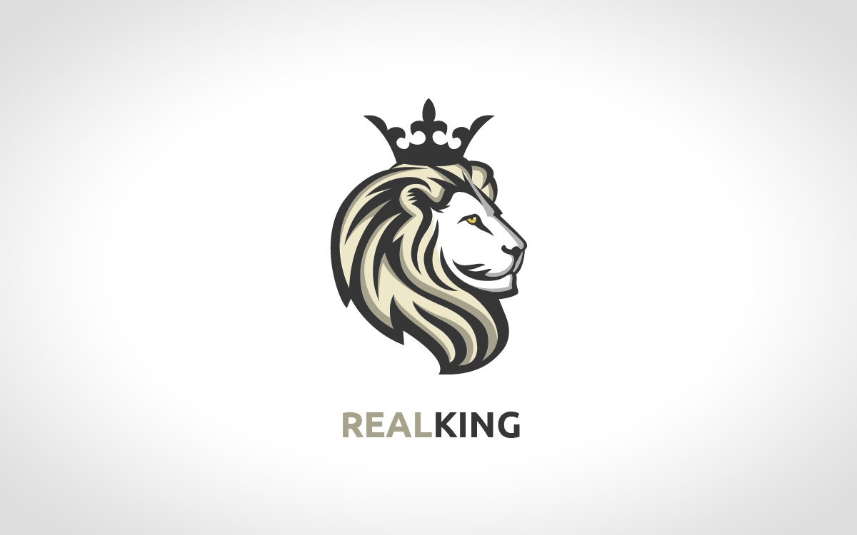 Blue lion logo with crown - photo#31