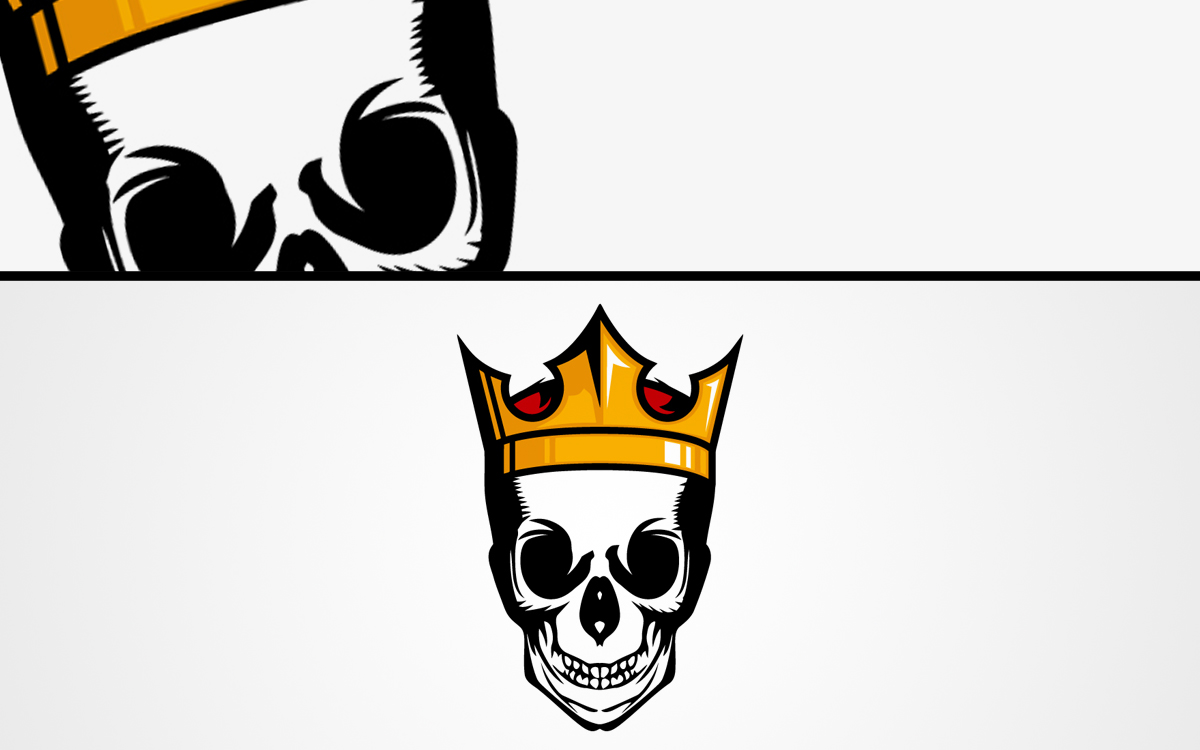 skull king esports logo for sale lobotz king queen crown logo King Crown Designs