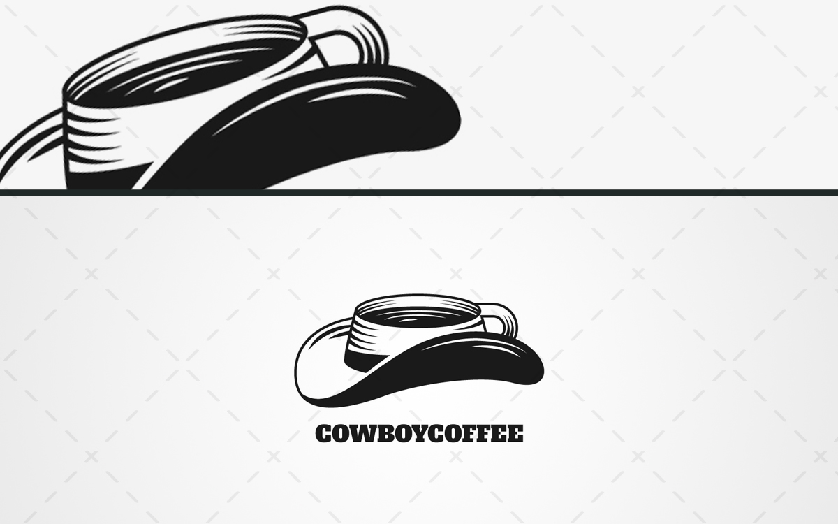 Cowboy Coffee Logo For Sale