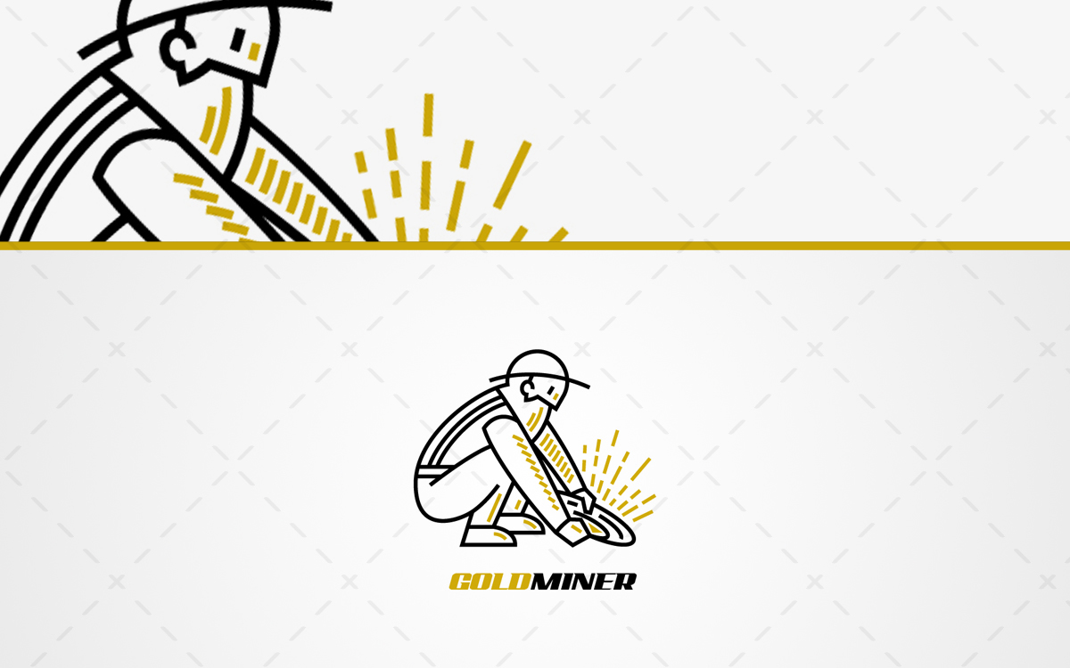 Gold Miner Logo For Sale