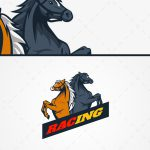 Spectacular Racing Horse Mascot Logo For Sale