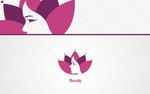 Flower woman face logo