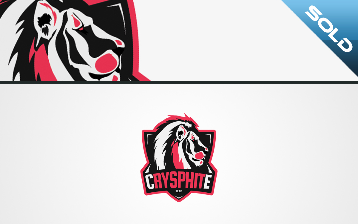 esports lion logo for sale