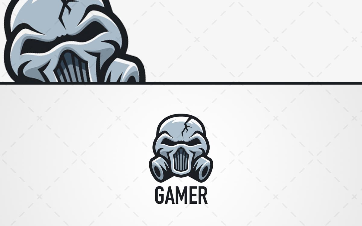 Gas masked skull esports logo