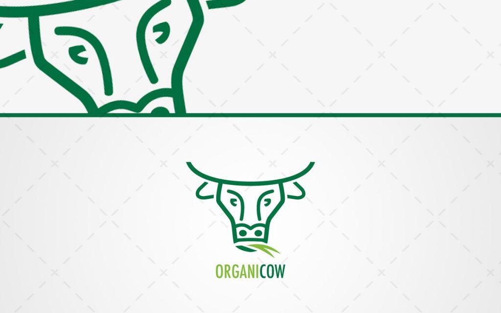 fresh green amp organic cow head logo for sale lobotz