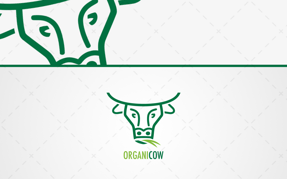 Cow Head Logo For Sale