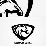 Spectacular Stallion Mascot Logo For Sale