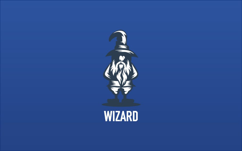 Creative modern wizard logo for sale lobotz for Logo creation wizard