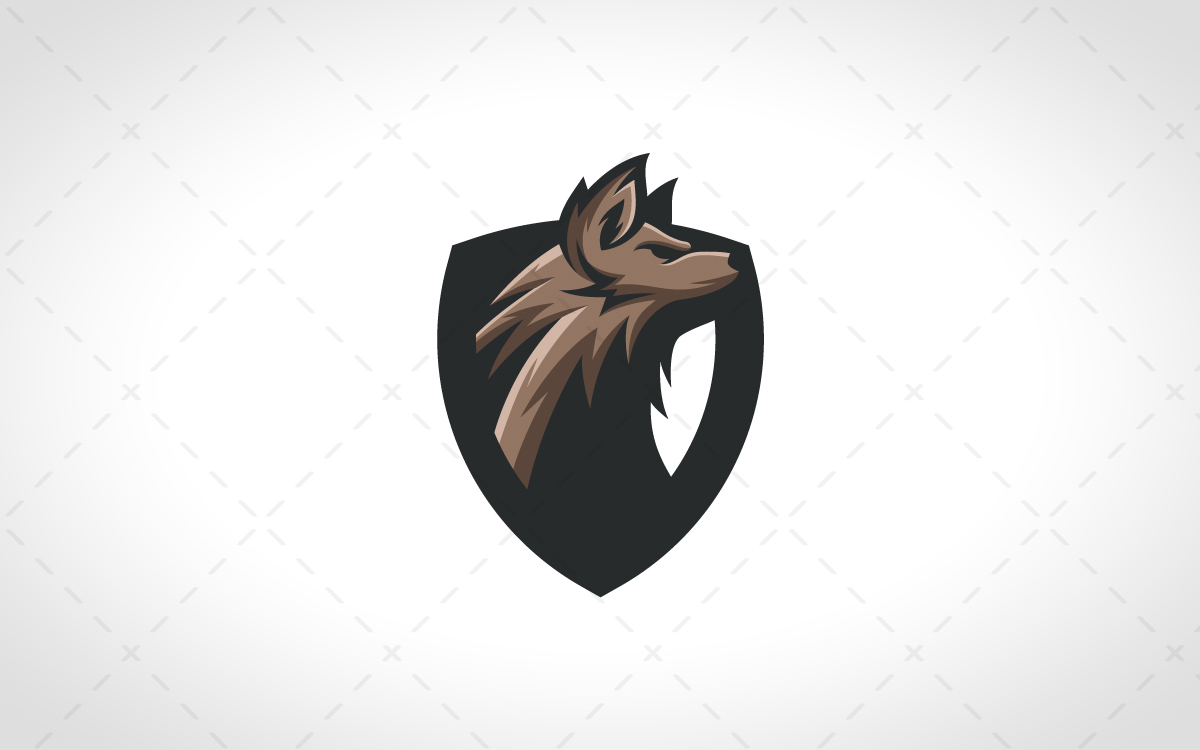 jaw dropping wolf mascot logo for sale