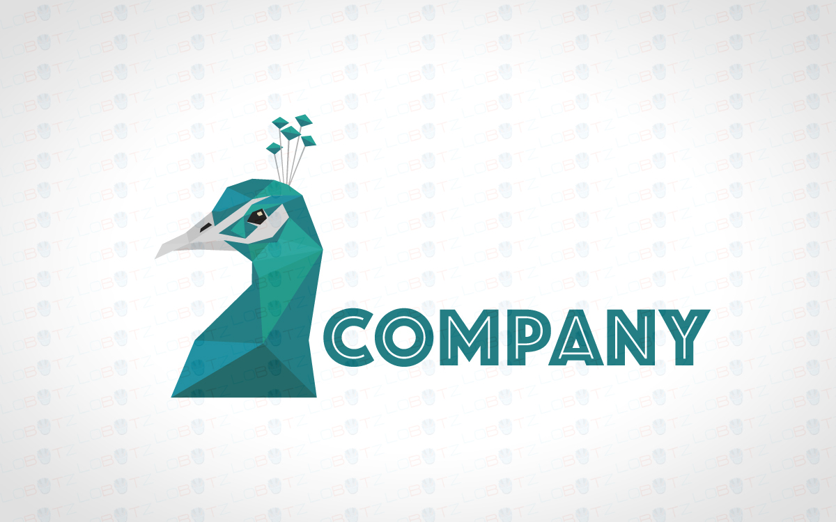 Beautiful Pretty Peacock Logo For Sale - Lobotz